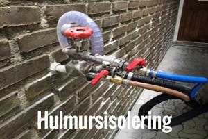 Hulmursisolering i Århus knap