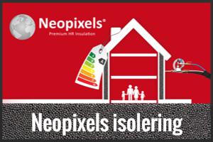 Neopixels isolering med flamingo knap